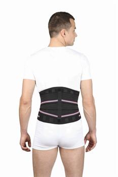 65% ХЛОПКА Корсет ортопедический поясничный + треугольная массажная вставка  Тривес Evolution Т-1503п