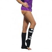 Женские компрессионные гольфы Soloventex с открытым носком хлопок 1 класс компрессии