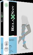 Компрессионные чулки RELAXSAN BASIC 2 класса компрессии закрытый носок для женщин и мужчин