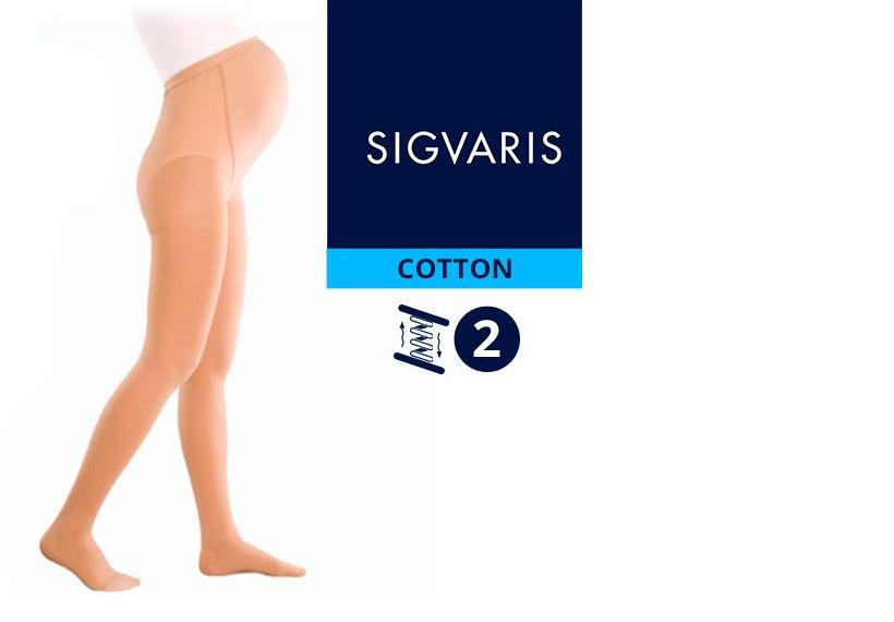 Компрессионные колготы от варикоза SIGVARIS MEDICAL COTTON 2 класс компрессии открытый и закрытый носок (мысок) для беременных женщин 14% ХЛОПКА