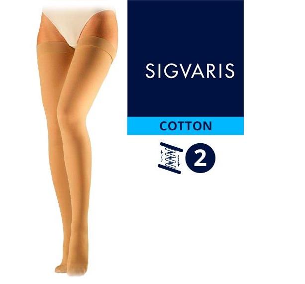 Компрессионные чулки от варикоза SIGVARIS MEDICAL COTTON 1 и 2 класс компрессии открытый и закрытый носок (мысок) для женщин и мужчин 14% ХЛОПКА