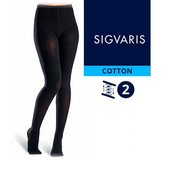 Компрессионные колготы от варикоза SIGVARIS MEDICAL COTTON 2 класс компрессии открытый и закрытый носок (мысок) для женщин и мужчин 14% ХЛОПКА
