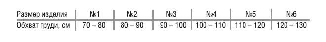 ПОСЛЕОПЕРАЦИОННЫЙ БАНДАЖ НА ГРУДНУЮ КЛЕТКУ Т-1341 (МУЖСКОЙ) Размеры