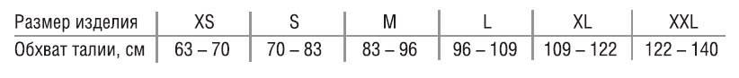 БАНДАЖ ТРИВЕС Т-1442 ПРИ ПУПОЧНОЙ (ВЕНТРАЛЬНОЙ) ГРЫЖЕ Размеры