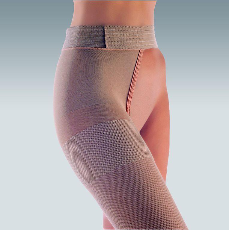 Компрессионный ЧУЛОК НА ОДНУ НОГУ с застежкой на талии medi DUOMED 1 и 2 класс компрессии с открытым носком для женщин и мужчин
