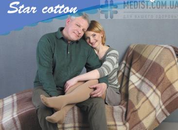 46% ХЛОПОК Компрессионные колготы Schiebler Star Cotton 2 класс компрессии с открытым и закрытым носком для женщин и мужчин