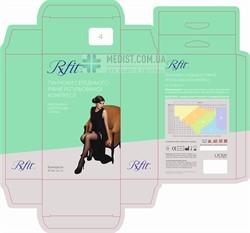 Женские компрессионные чулки RxFit профилактические с закрытым носком и кружевной резинкой