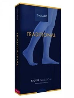 Медицинские компрессионные гольфы с силиконовым фиксатором для женщин и мужчин Sigvaris Medical Traditional второго класса компрессии с открытым носком (мыском)