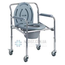 Стул-туалет стальной складной Dayang DY02696(5)E на колесах усиленный