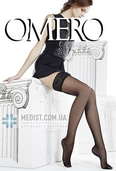 Женские прозрачные чулки Omero Efira 15 denс кружевной резинкой на силиконовой основе