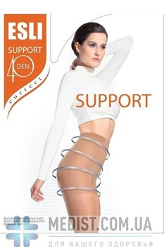 Женские корректирующие колготки Conte Support 40 Esli ™ С УТЯЖКОЙ ПО ВСЕЙ ДЛИНЕ