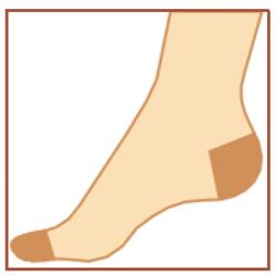 Компресcионные антиварикозные чулки av_140 - Усиленные носок и пятка