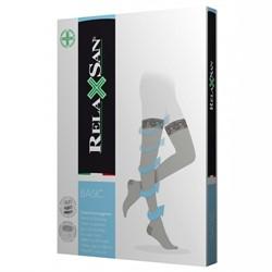 Компрессионные чулки RELAXSAN BASIC профилактические КРУЖЕВНАЯ резинка закрытый носок для женщин