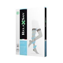 Компрессионные чулки RELAXSAN BASIC 1класса компрессии КРУЖЕВНАЯ резинка закрытый носок для женщин