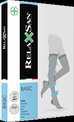 Компрессионные чулки RELAXSAN BASIC 2 класса компрессии открытый и закрытый носок для женщин и мужчин