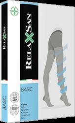 Компрессионные колготы RELAXSAN BASIC XL 2 класса компрессии закрытый носок для женщин и мужчин с УВЕЛИЧЕННЫМ ОБЪЕМОМ БЕДЕР