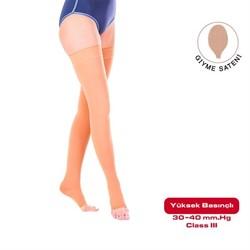 Компрессионные чулки от варикоза VARITEKS 901 3 класс компрессии с открытым носком для женщин и мужчин