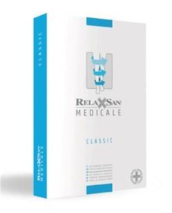 Компрессионные гольфы RELAXSAN МEDICALE CLASSIC 2 класс компрессии открытый носок (мысок) для женщин и мужчин