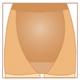 Компрессионные антиварикозные колготки для беременных Avicenum 70 - Большой передный клин