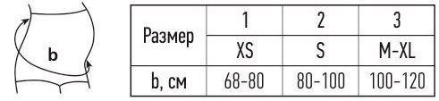 Пояс медицинский эластичный поддерживающий для беременных, с укрепленной спинкой TONUS ELAST 0009 Kira размерная таблица