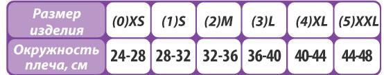 Бандаж фиксирующий на плечевой сустав Тривес Evolution Т-8195 размерная таблица