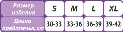 Бандаж на плечевой сустав (повязка Дезо) Тривес Evolution Т-8193 размерная таблица