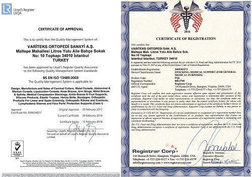 Сетификаты Компрессионный короткий рукав VARITEKS Aloe Vera 2 класс компрессии МИКРОФИБРА