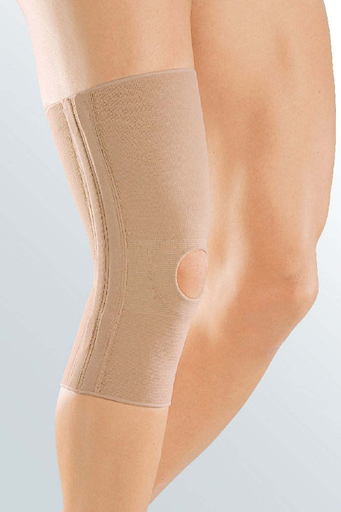 Бандаж компрессионный для коленного сустава Medi elastic knee support c ребрами жесткости и открытым надколенником