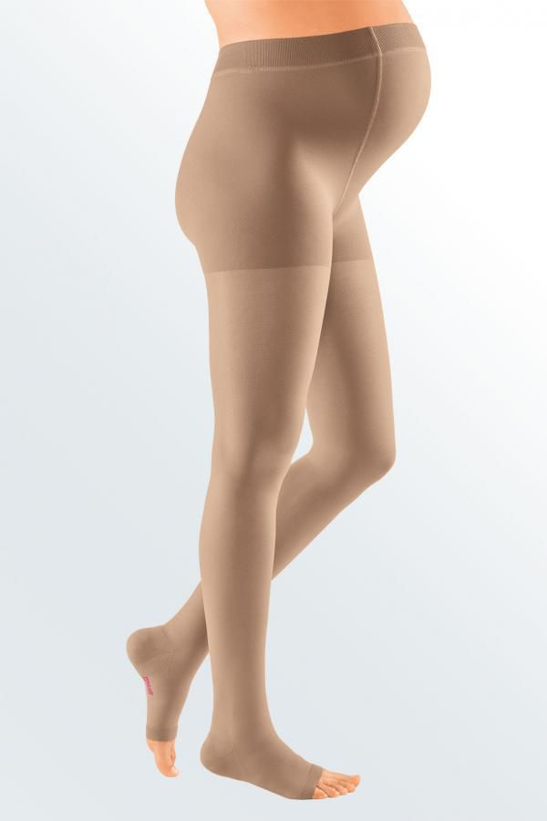 Компрессионные колготки для беременных MEDIVEN PLUS medi 1 и 2 класс компрессии с открытым и закрытым носком