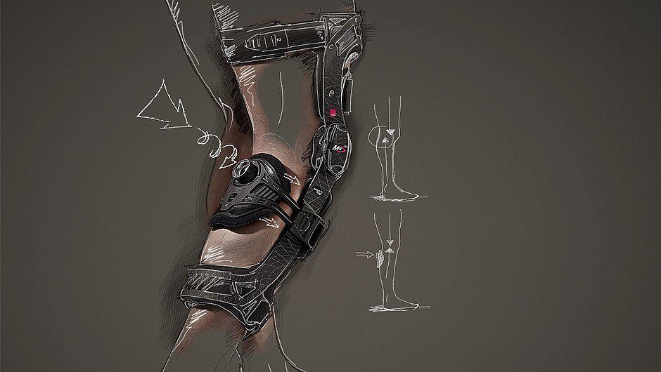 Бандаж для коленного сустава жесткий 4-точечный Medi M.4s PCL dynamic