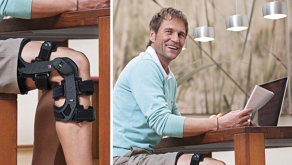 Ортез для коленного сустава жесткий регулируемый Medi M.4 X-lock с возможностью быстрой блокировки в положении разгибания